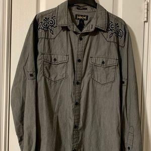 Helix Mens Large Athletic Fit Western Shirt